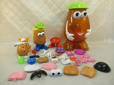 Mr Potato Head Hasbro 2002 Play Set Large Storage Container 35+ Pieces
