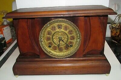 Gilbert Antique Mantle Clock 1909, chimes on the hour,runs but needs cleaned