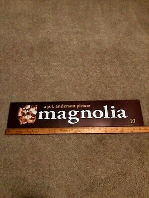 1999 Magnolia  5x25 Large Movie Theater Mylar Double-sided P.T. Anderson
