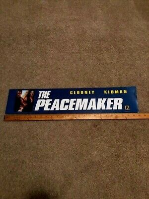 1997 Peacemaker 5x25 Large Movie Theater Mylar Double-sided Clooney/Kidman