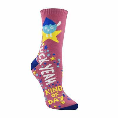 Seafirst Women's Novelty Crew Socks Funny Patterned Cool Crazy Socks fk Yeah