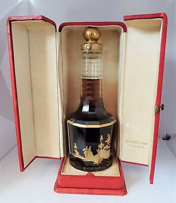 "Rare Baccarat ""Le Parfum Ideal"" Houbigant Full Sealed In Red Leather Case"