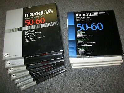 11 Reels MAXELL UD-50-60 Low Noise Extended Range Tape 1200 Ft reel open