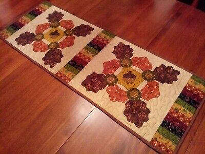 """Country/Primitive/Farmhouse-Quilted- Acorn-Table Runner-Table Runner-38""""x 13 1/2"""