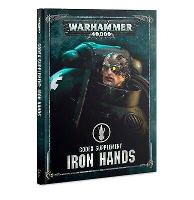 Codex: Iron Hands Hardcover Book Warhammer 40k Pre-Order Ships FREE 9/21!