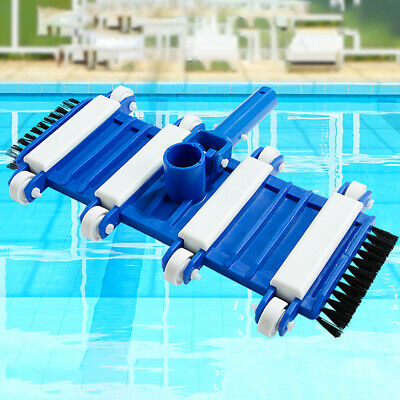 Vacuum Head Spa For Swimming Pool Flexible Durable Pond Wheeled With Brush
