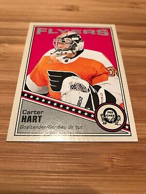 2019-20 O Pee Chee OPC Retro Green Back Carter Hart #64 Philladelphia Flyers