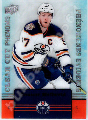 2019-20 UD TIM HORTONS CLEAR CUT PHENOMS CONNOR MCDAVID INSERT CARD - In Stock!!