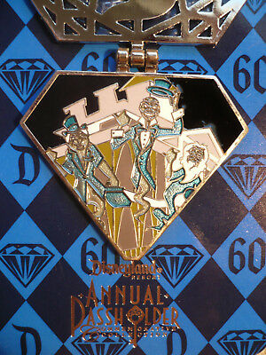 Disney D60 HTF RET LE AP HINGED DIAMOND HITCHHIKING GHOSTS HAUNTED MANSION HOUSE