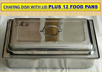 Chafing Dish With Lid Plus 13 Food Pans...local Pick Up Only 2147