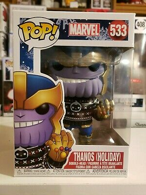 Funko Pop Marvel Holiday Thanos (with sweater) #533 - Mint W/ Pop Protector