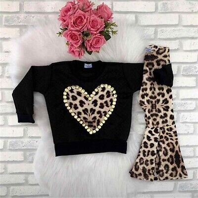 Toddler Baby Kids Girl Autumn Winter Clothes Tops T-shirt Pants Outfits 2PCS Set