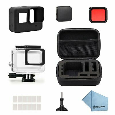 Gopro Hero 6 5 Starter Kit Travel Case Waterproof Black Action Camera Accesories
