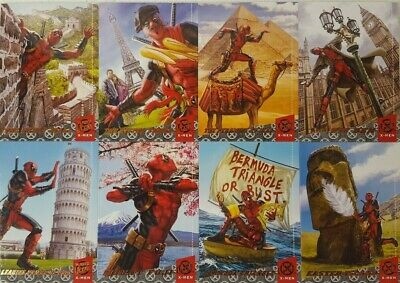 2018 Fleer Ultra X-Men Trading Card Set DEADPOOL Around The World ( 10 )