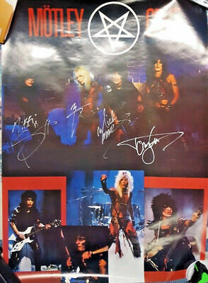 ***Motley Crue Signed Poster Shout At The Devil 1983***