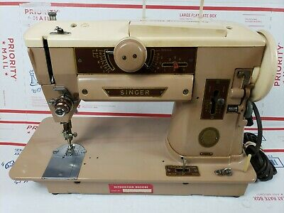 Singer Sewing Machine 401A No Foot Pedal Untested As Is