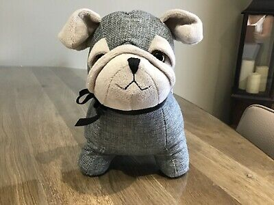 Bull Dog Door Stop. Grey &  Beige Bull Dog Excellent Hardly Used Condition