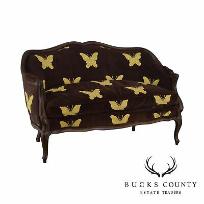 M. Gunther Martini French Louis XV Style Vintage Butterfly Upholstered Loveseat