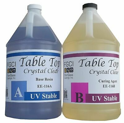 Epoxy Table Top Resin, 2 Gallon Kit, Crystal Clear, Includes Part A & B 135368