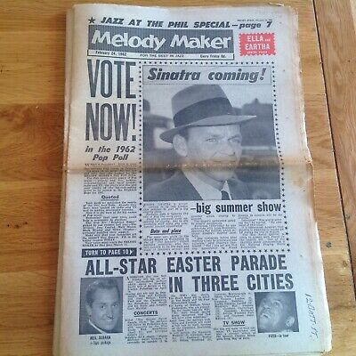 Melody maker  1962 February   24th Frank Sinatra Neil Sedaka