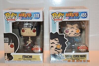 Cursed Mark Sasuke and Itachi Funko Pops