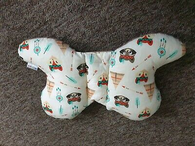 Minky butterfly shaped pillow for babies