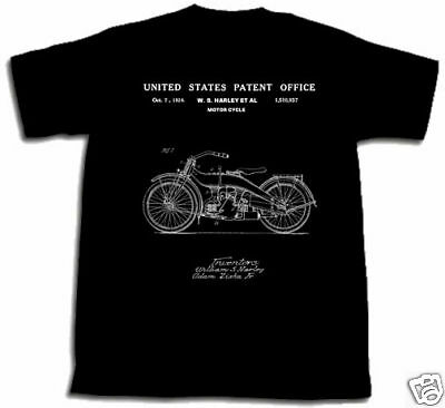 HARLEY DAVIDSON MOTORCYCLE PATENT SHIRT XXL TShirt 2XL 1924 HD MOTOR CYCLE