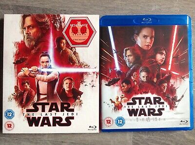 Star Wars: The Last Jedi Blu-ray (2018) Carrie Fisher, With Slip Cover