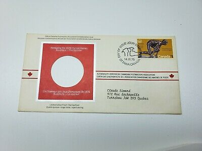 """1975 Montreal Olympic First Day Cover  Limited Edition Proof   """"Sprinter"""""""