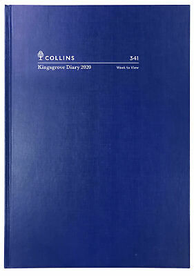 2020 Diary◉COLLINS◉Kingsgrove◉A4 Week to View◉WTV◉Hardcover◉341.P59-20◉Blue◉Oz◉