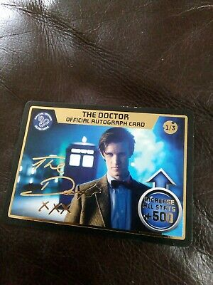 Dr Who Monster Invasion The Doctor Official Autograph Card 1/3