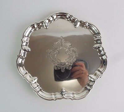 Waiter Salver Tray Solid Sterling Silver Classic Georgian Revival Hutton 1912