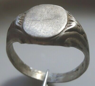 PERFECT SILVER ANCIENT Byzantine RING not ENGRAVED