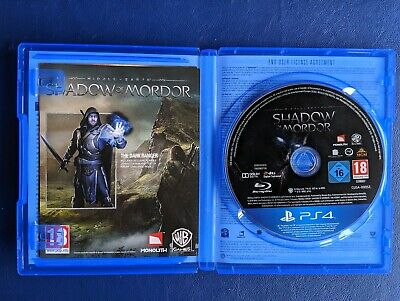 Middle Earth: Shadow of Mordor (PS4) great condition. Free postage