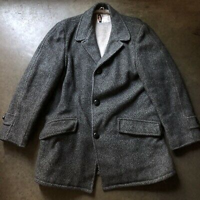 Mens Vintage 60s JC Pennys Sports Outerwear Wool Sherpa Lined Parka Jacket Sz 38