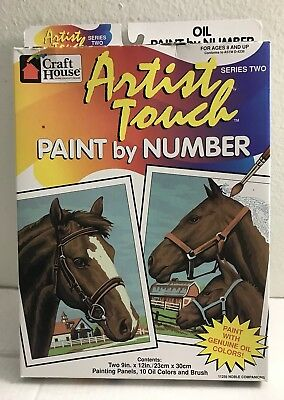 Craft House Artist Touch Paint By Number Series Two Noble Companions Horses BN