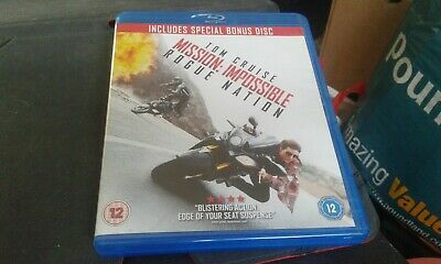 Mission Impossible Rogue Nation Tom Cruise 2 Disc Blu-Ray Set
