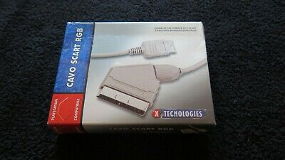 Cavo video SCART RGB per PS1 PS2 PS3 PSX Psone Playstation ! Nuovo! Sped Express