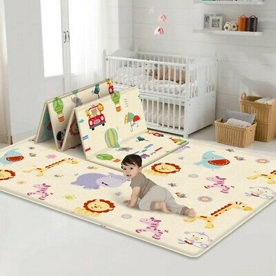 Baby Play Mat-Large Double Sides Non-Slip Waterproof For Playing Crawling New