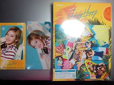 New TWICE HAPPY HAPPY First Limited Edition Type A CD Card Japan ver SANA