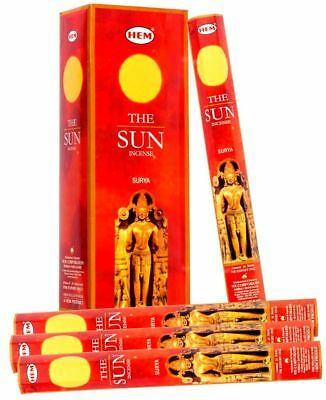 Hem THE SUN Bulk Incense Sticks Box Scent 6 pack x 20 Stick = 120 Sticks