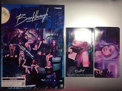 New TWICE Breakthrough First Limited Edition Type A CD Card Japan ver SANA
