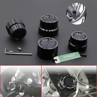 CNC Aluminum RC Front Rear axle Cover Cap Nut Harley Low Rider FXDL 2014-2016