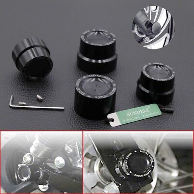 CNC Aluminum RC Front Rear axle Cover Cap Nut Harley Road King FLHR 2008-2016