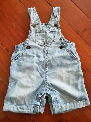 Baby B'gosh Girls 12-18 Months Overalls Shortalls Chambray Denim Super Soft