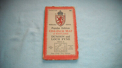 1925 Ordnance Survey Map Dunoon And Loch Fyne  Southamption Published