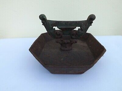 Original Antique Cast Iron Boot Scraper And Mud Tray Very Heavy