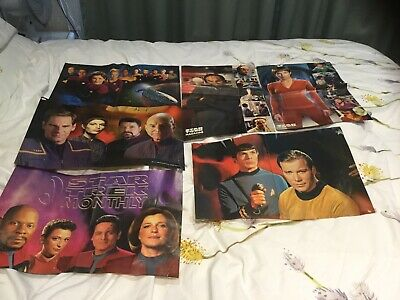 Collection Of Star Trek Posters + Plus 2 Giant Posters 90cm Each - 8 In Total