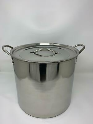 Large Stainless Steel Stock Pot Brew Boiling Stew Soup Cooking Pot Buckingham