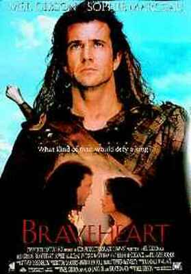 Braveheart (Single Sided) (Mel Gibson & Sophie Marceau) Poster